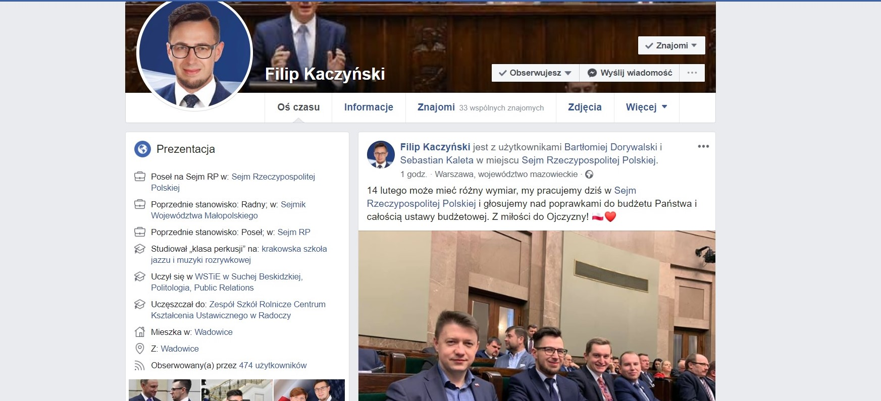 Młody poseł Kaczyński pracuje 'z miłości do Ojczyzny', ale milionów na BDI nie będzie