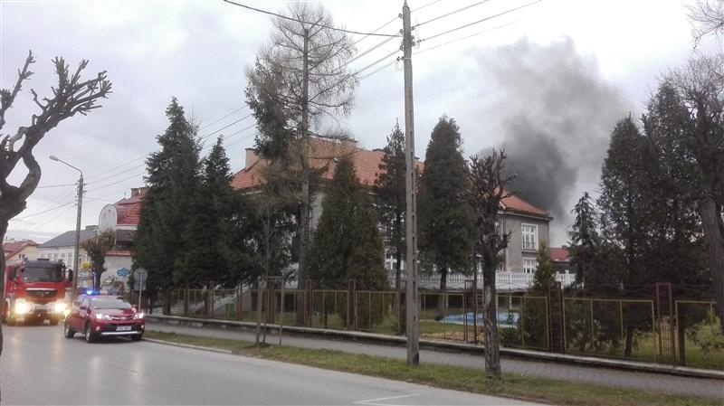 Pożar na terenie przedszkola
