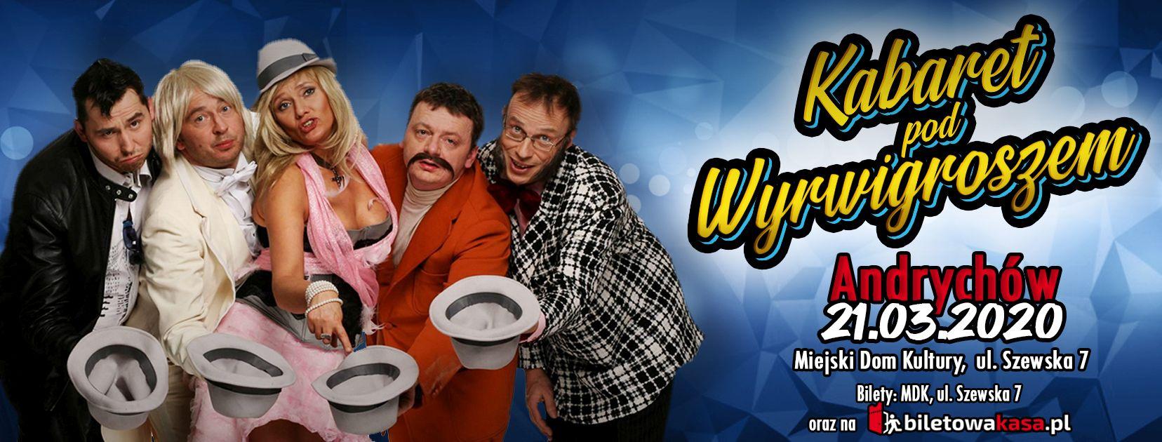 Kabaret pod Wyrwigroszem w Andrychowie. Do do wygrania dwa podwójne zaproszenia
