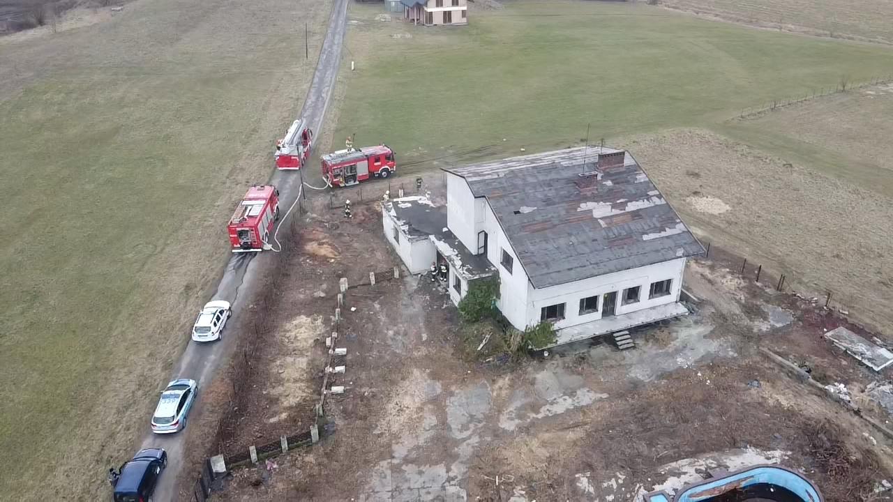 Strażacy ugasili pożar w budynku