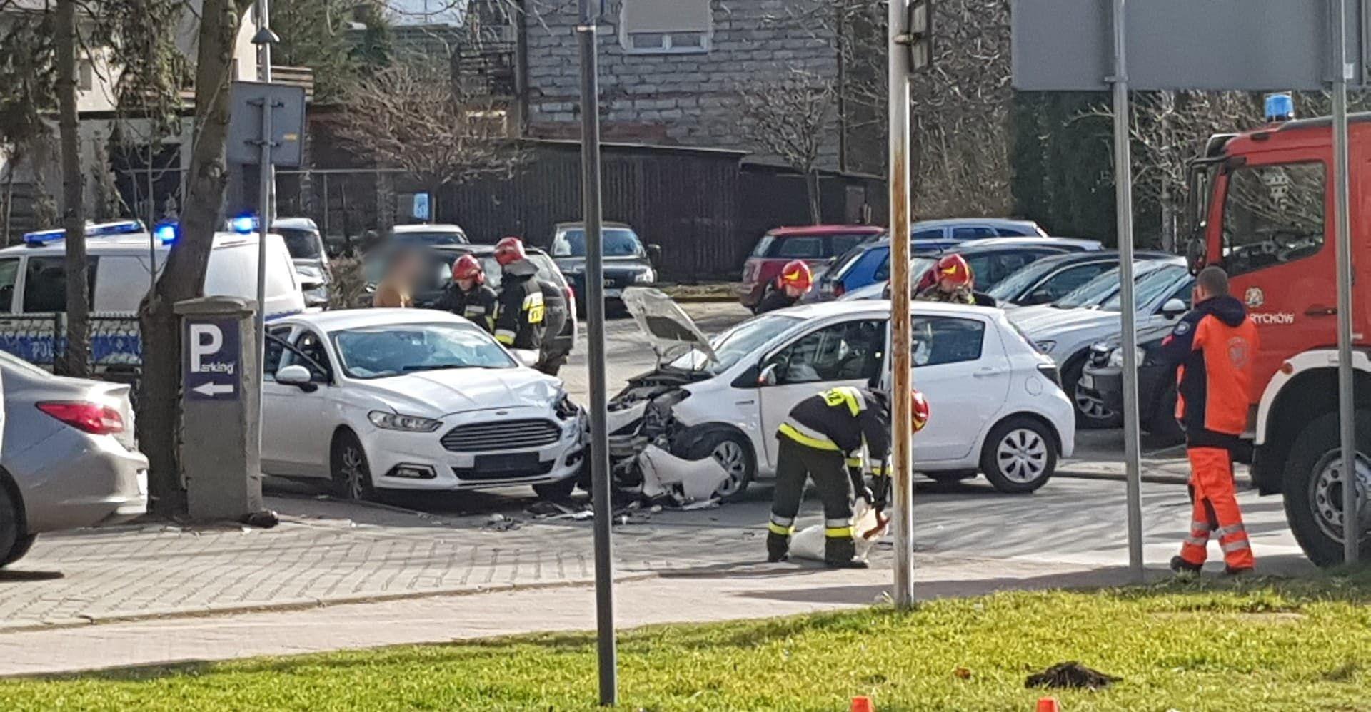 Wypadek na skrzyżowaniu w Andrychowie [FOTO]