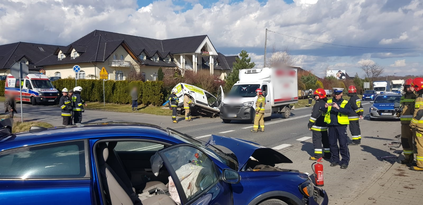 Wypadek na drodze Andrychów - Wadowice, utrudnienia dla kierowców [FOTO]