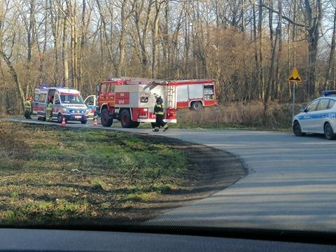 Motocyklista poszkodowany w wypadku