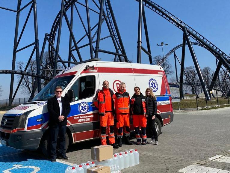 12000 produktów sanitarnych od Energylandii dla lokalnych służb!