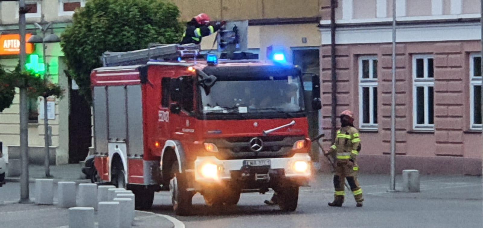 Dwie interwencje strażaków w centrum Andrychowa