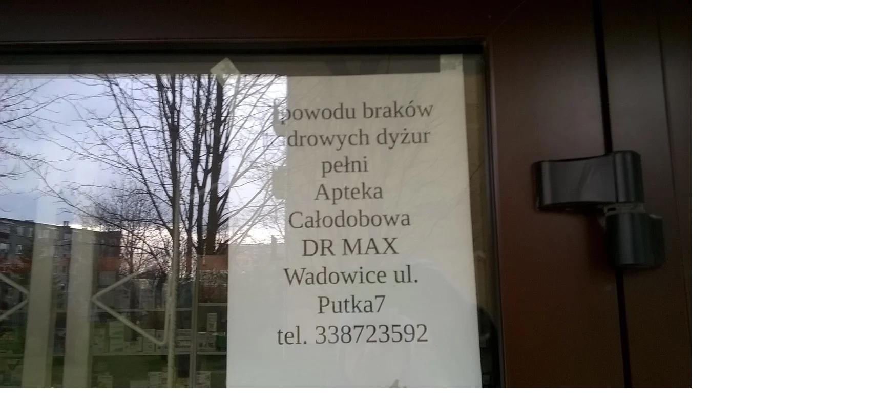 Weekendowe dyżury aptek w Andrychowie pod znakiem zapytania?