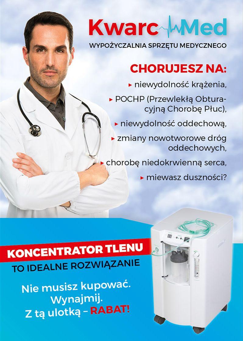 Wypożyczalnia sprzętu medycznego Kwarc-Med. Skorzystaj z rabatu