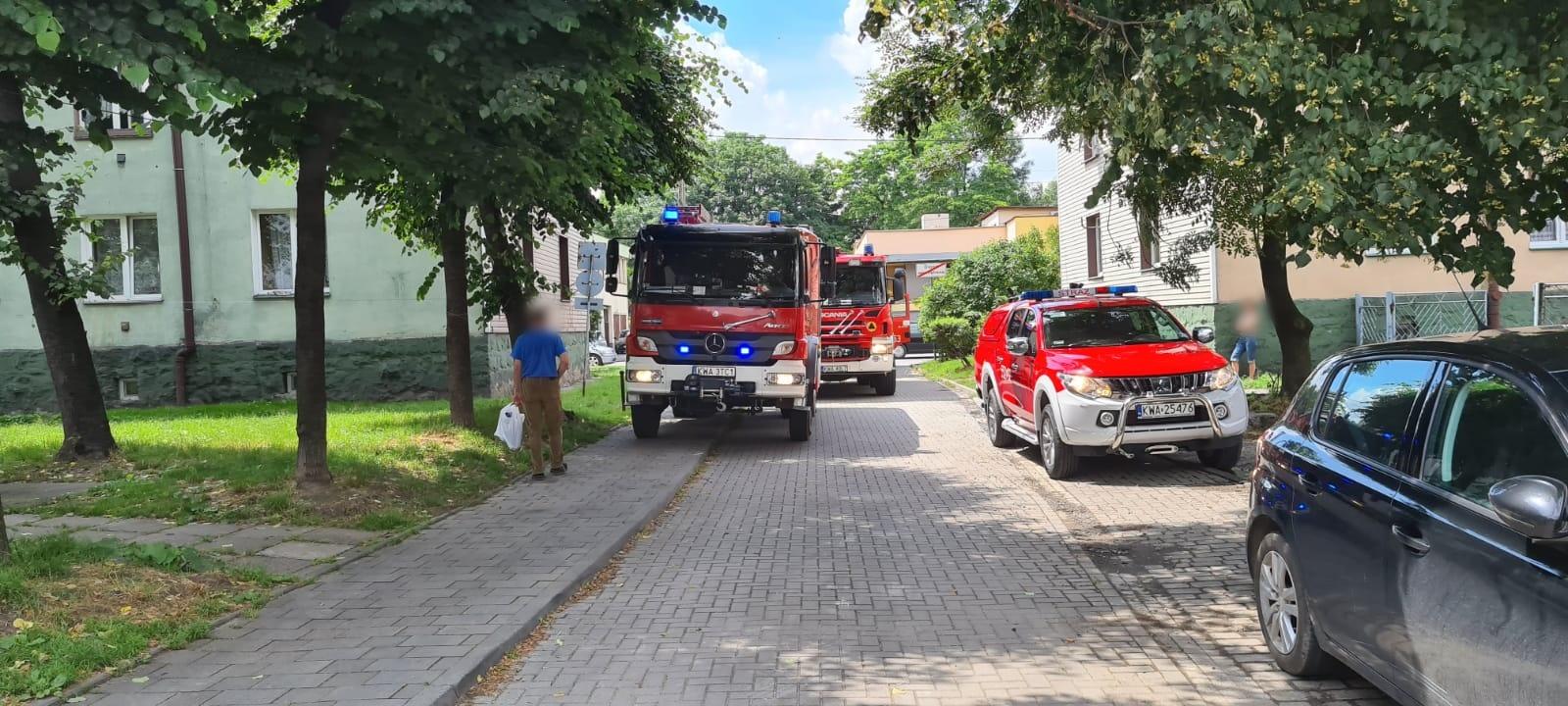 Interwencja służb ratowniczych w centrum Andrychowa