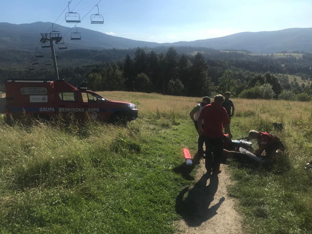 Kolejne wypadki rowerzystów w górach. Ratownicy GOPR w akcji