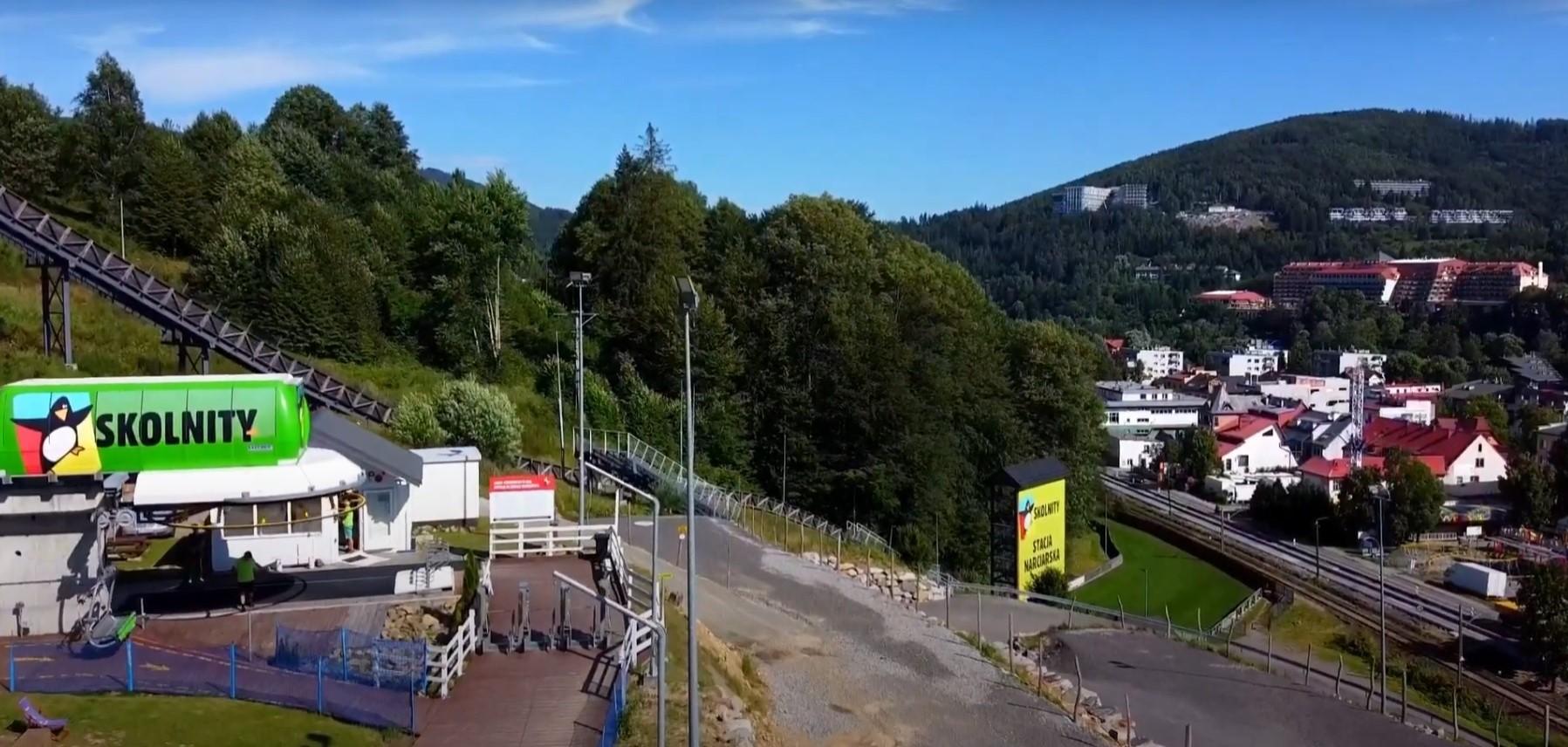 Skolnity Ski & Bike Park z lotu ptaka
