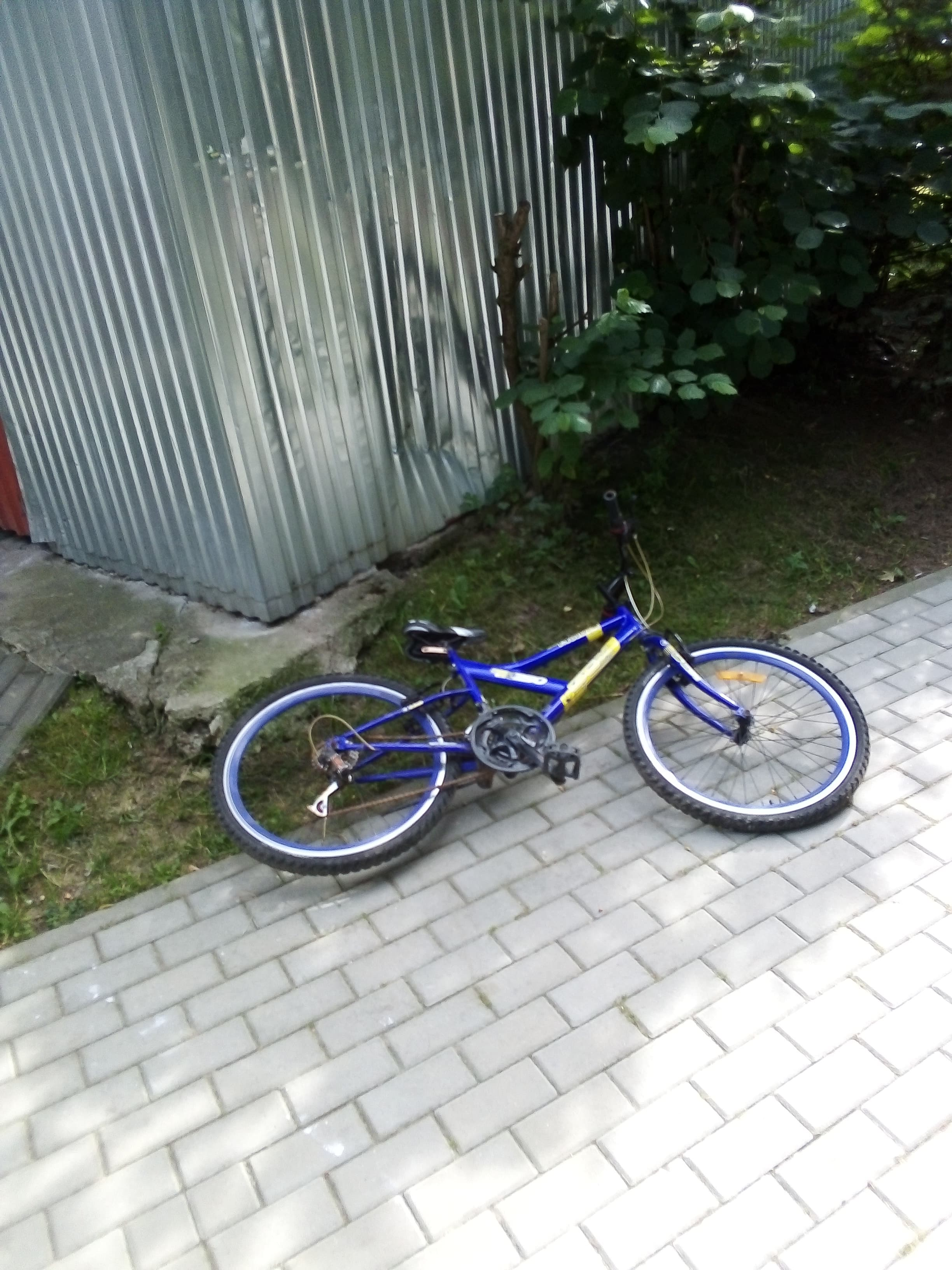 Porzucony rower w Andrychowie