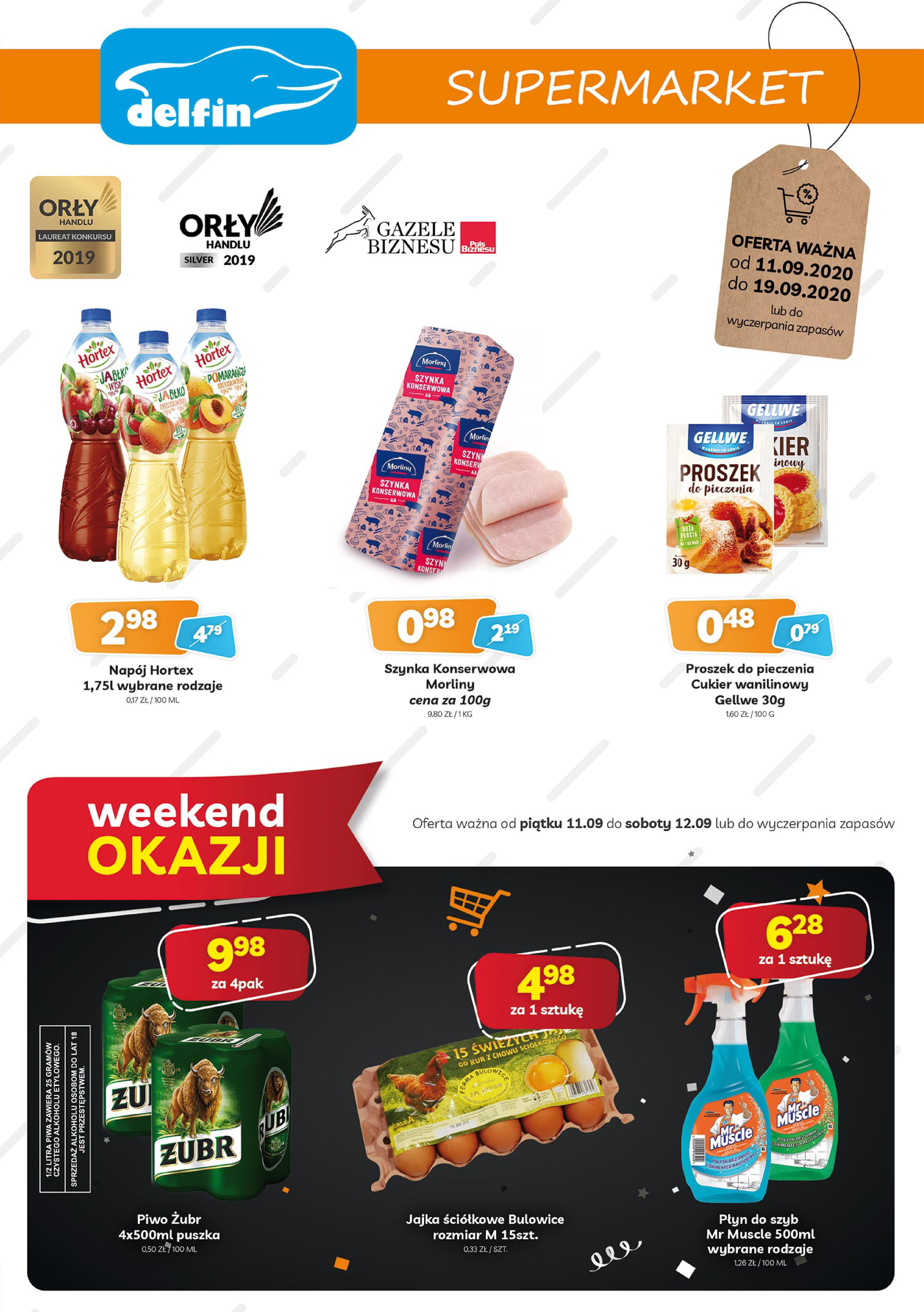 Aktualne promocje w supermarketach Delfin 11-19 września