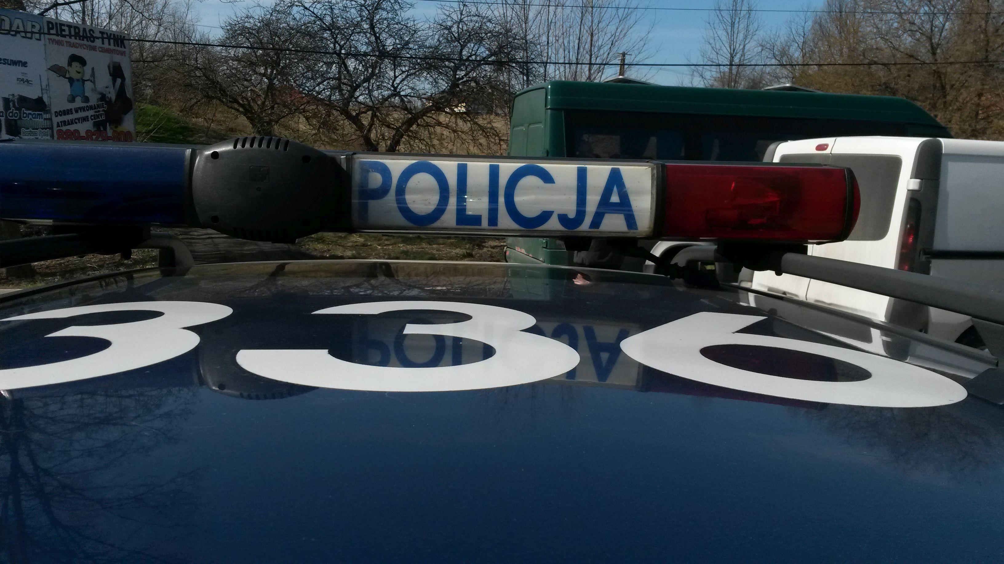 Policjanci szukają właściciela kosiarki, którą znaleźli w zaroślach