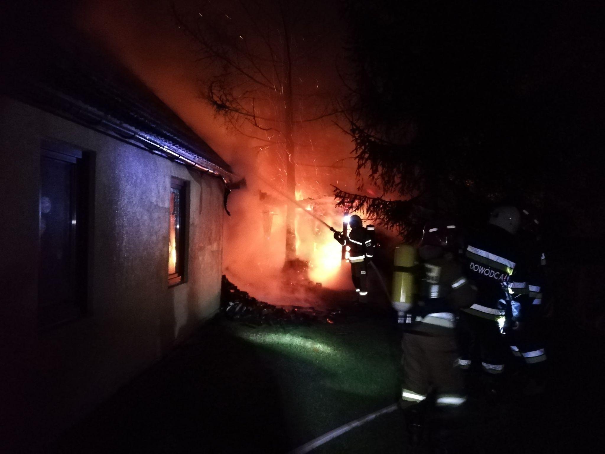 Dwa pożary w ciągu nocy