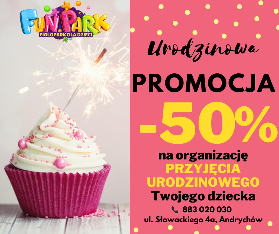 Ostatnie dni promocji na organizacje urodzin w FunParku  z rabatem -50% !