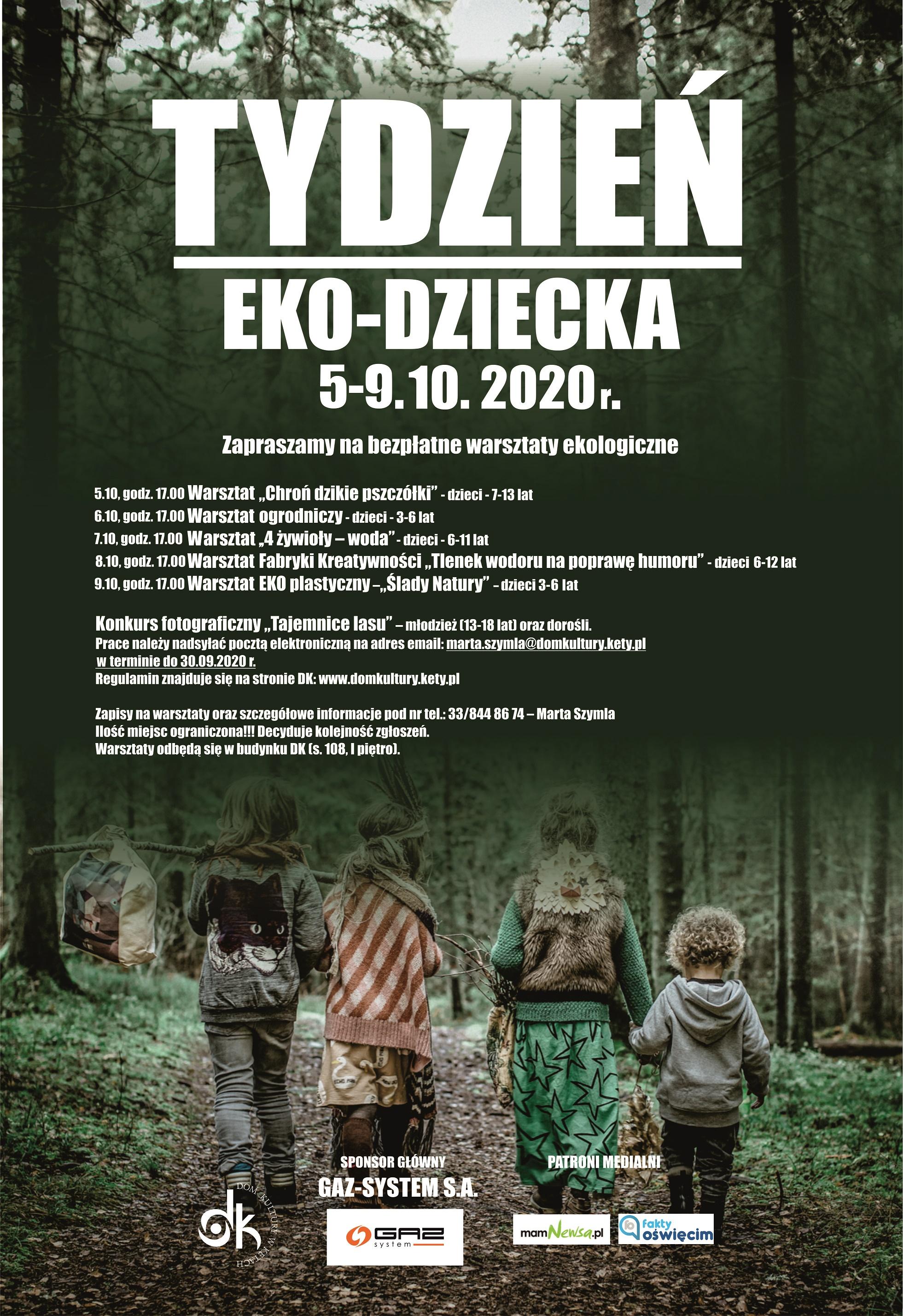 Tydzień Eko-Dziecka. 5-9 października. ZAPISY