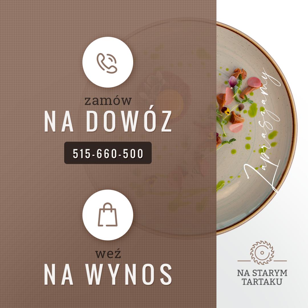 Restauracja Na Starym Tartaku w Andrychowie przyjmuje zamówienia: