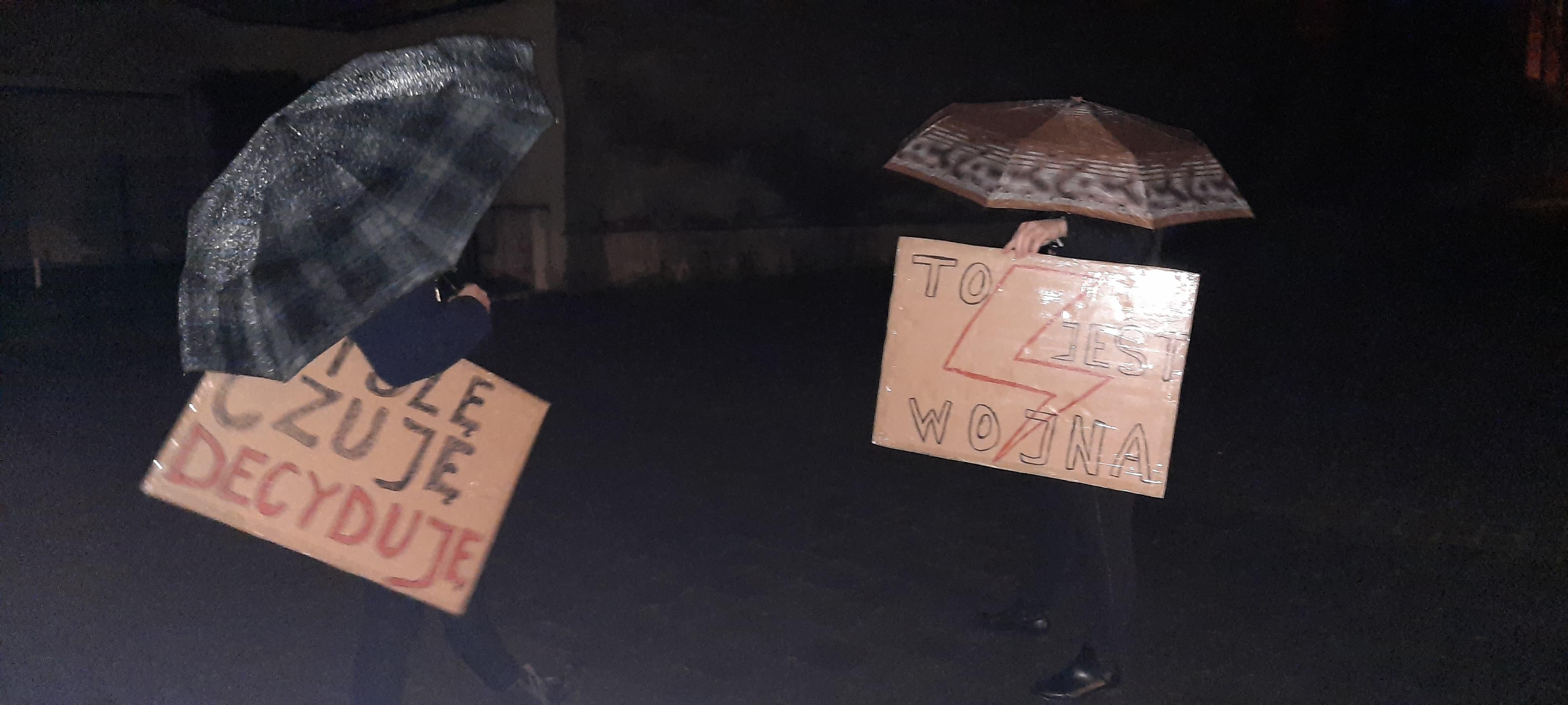 Trzecia w Andrychowie demonstracja w obronie praw kobiet