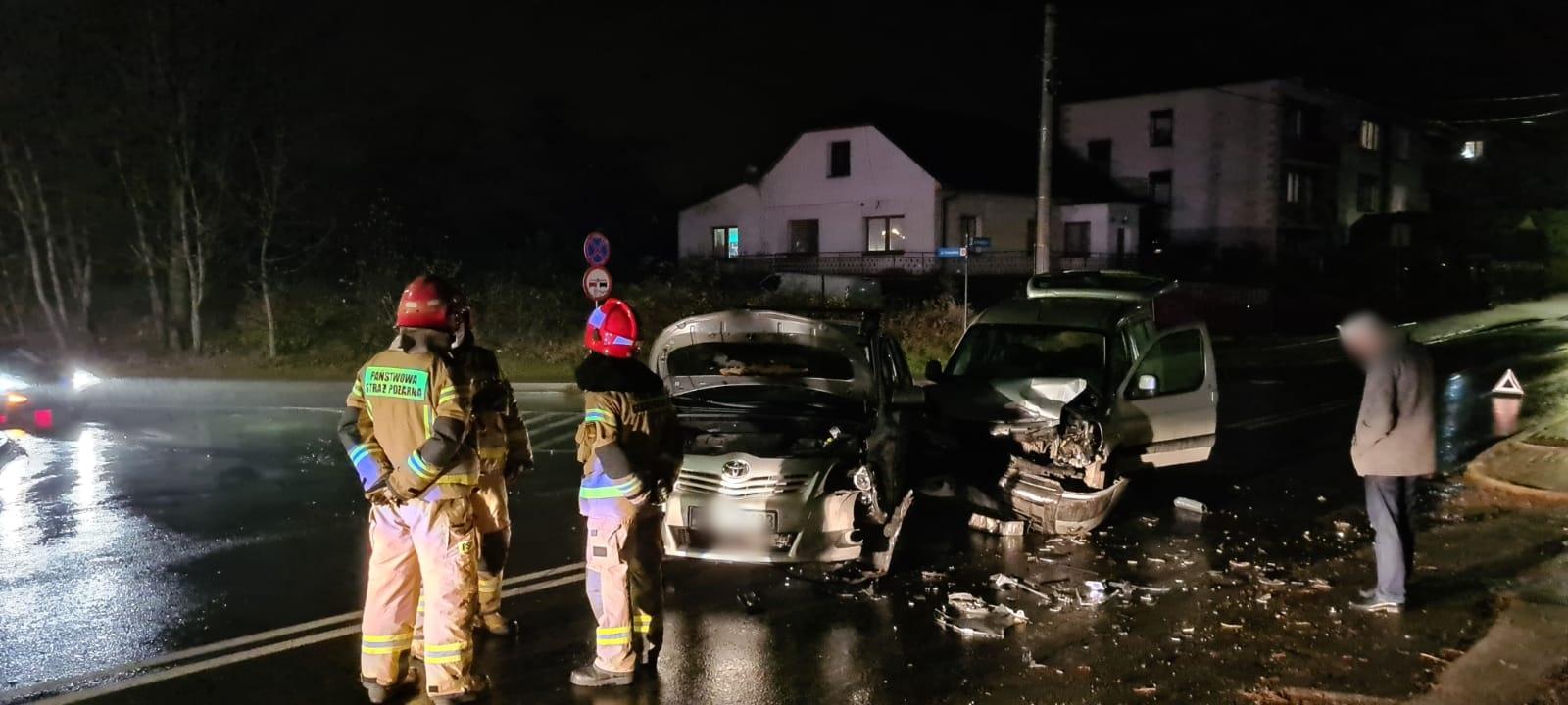 Wypadek na Starowiejskiej w Andrychowie [FOTO]