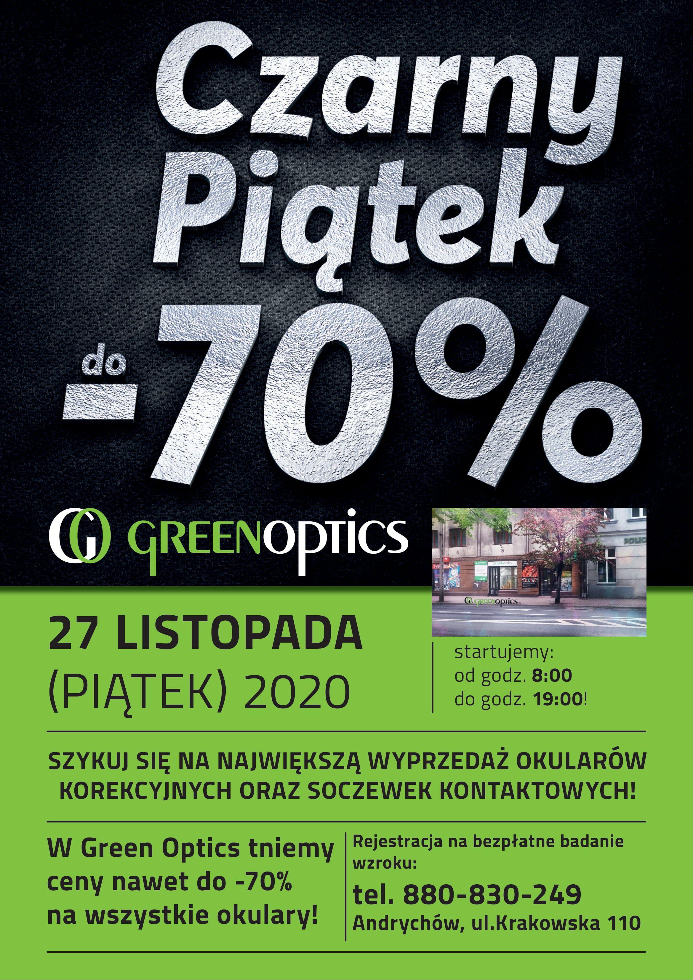 CZARNY PIĄTEK 2020 W GREEN OPTICS