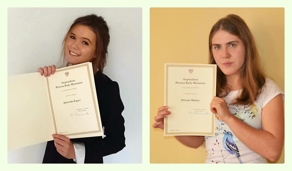 Licealistki z Andrychowa ze stypendium premiera