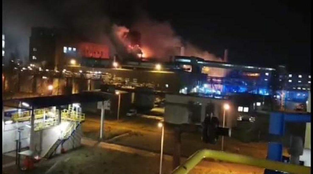 Po pożarze w firmie chemicznej.