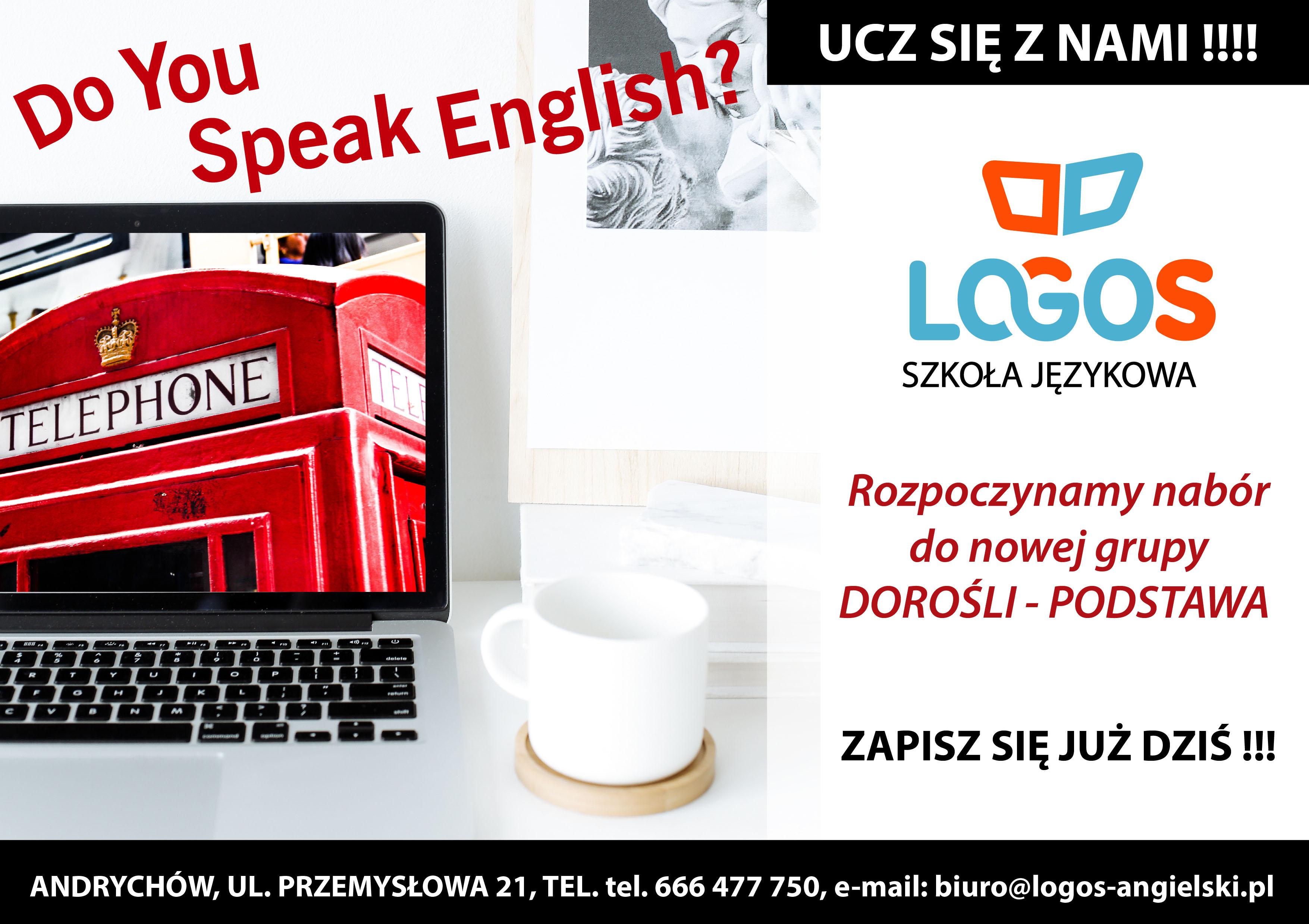 Szkoła Językowa LOGOS: nowa grupa dla dorosłych