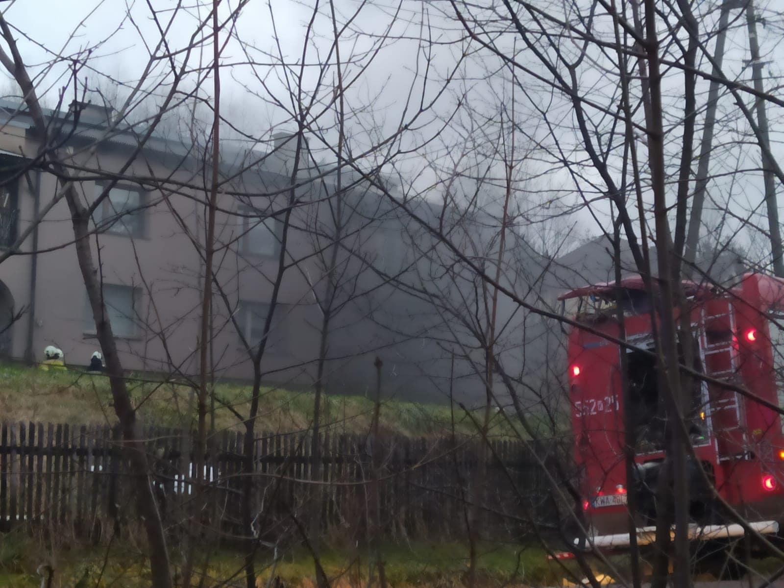 Pożar w budynku w Zagórniku