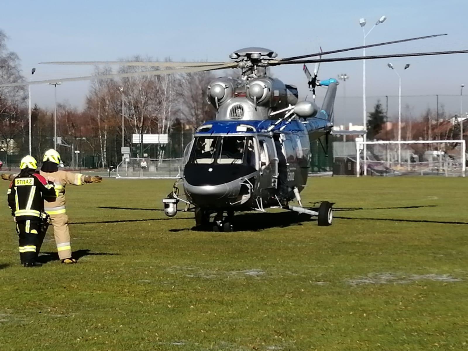 Policyjny śmigłowiec wykorzystany do poszukiwań zaginionej Kseni [FOTO]