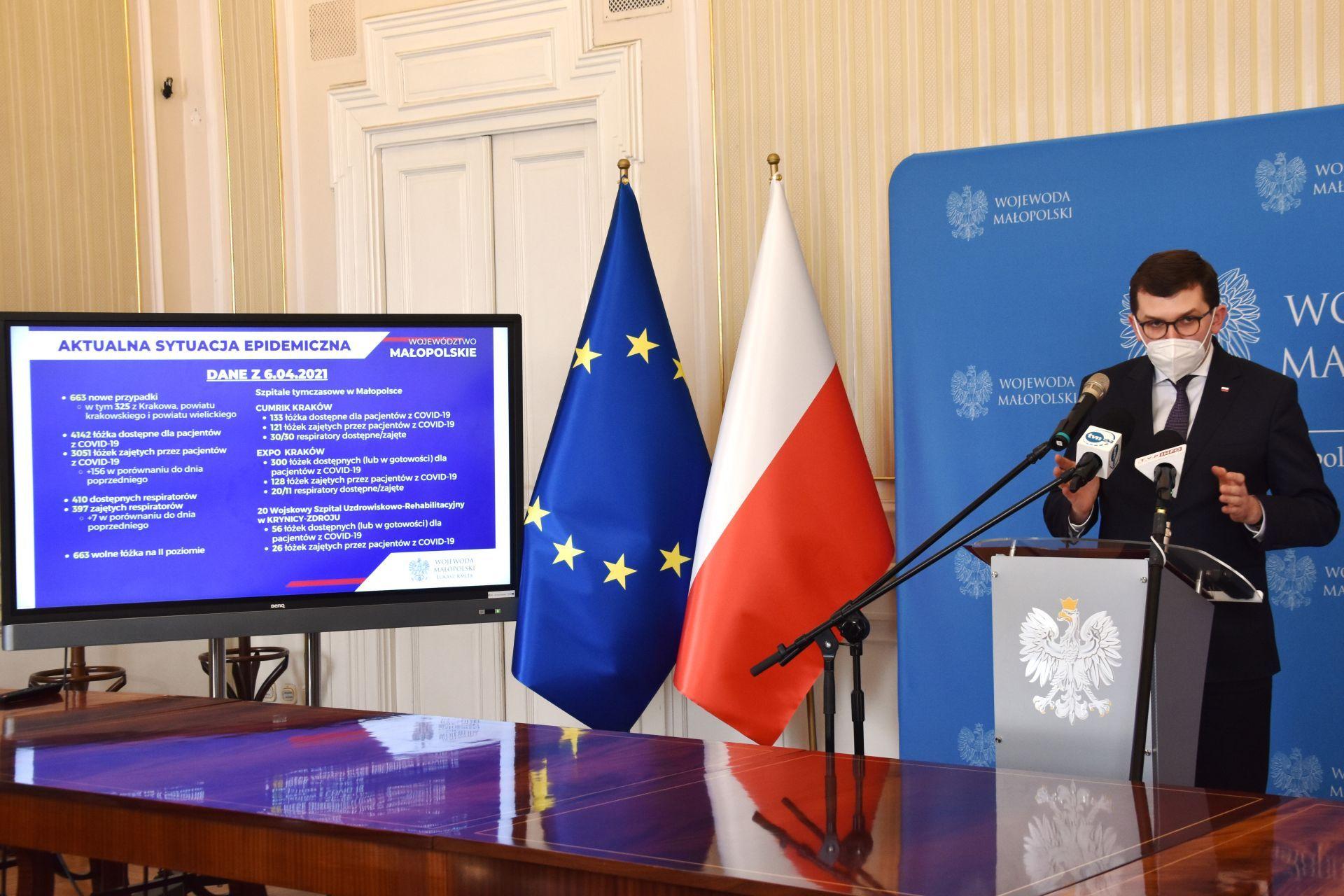 Coraz trudniejsza sytuacja w Małopolsce. Możliwa relokacja pacjentów do innych województw