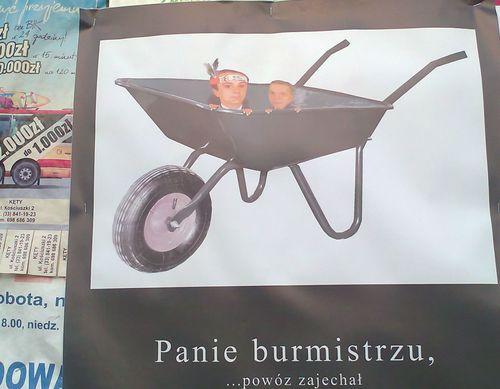 Plakatem w burmistrza