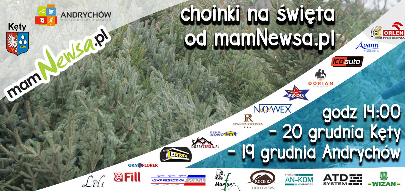Choinki na święta od mamNewsa.pl po raz kolejny w Andrychowie i Kętach
